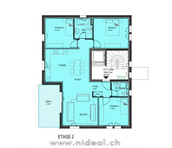 Annonces immobilier vendre en suisse appartement 4 for Location a yverdon